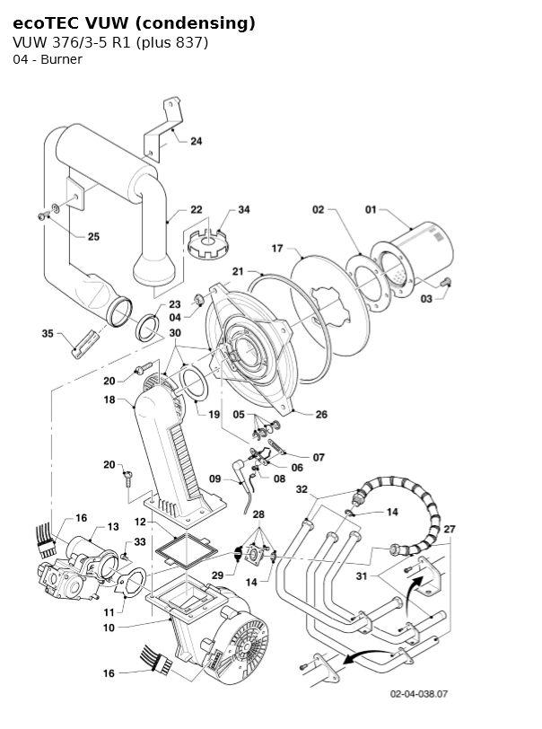 ecotec plus 837 vuw 376/35 r1  phc parts